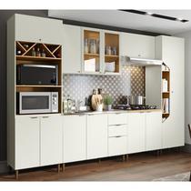 Cozinha Modulada 6 Peças 100% MDF Essencia 3 Areia Nature Henn -