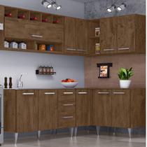 Cozinha Modulada 6 Peças Milena 27261 Marrom Marrom - Bymadero Mobilia