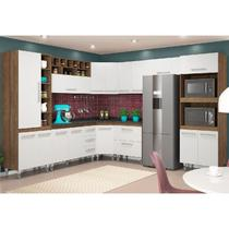 Cozinha Modulada 9 Peças Monaliza Terraro/Branco - MoveMax -