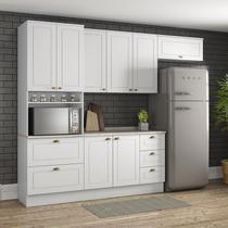 Cozinha Modulada Americana 100% MDF 5 peças Branco com Torre Quente Armário - Henn -