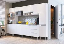 Cozinha Modulada  ATHENA - 6 Peças Completa 13 PT 3 GV Branco - MEGASUL -