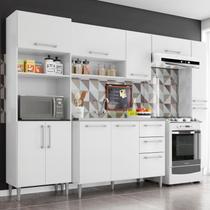 Cozinha Modulada Balcão Para Pia 3 Peças Sharmila Branco - Poquema -