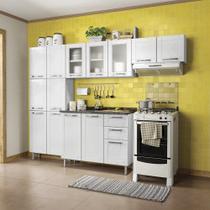 Cozinha Modulada Com Balcão 4 Peças em Aço Múltipla Branco- Bertolini -