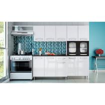Cozinha Modulada Evidence Aço 4 Módulos Composição 7 Branco/Preto - Bertolini -