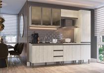 Cozinha Modulada  Greta 5 peças Completa 10 PT e 3 GV Crema - IRM -