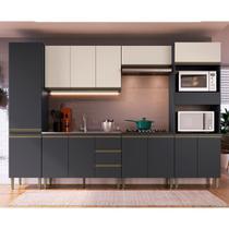 Cozinha Modulada Greta 6 peças Completa 13 PT e 3 GV Grafite-OffWhite - Megasul - IRM