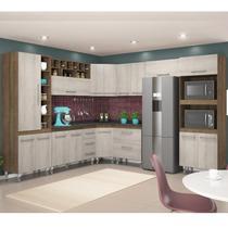 Cozinha Modulada Monalisa Terraro Naturaly Movemax 9 Peças -