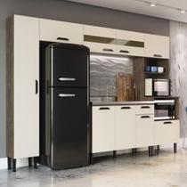 Cozinha Pérola Compacta 9 Portas 1 Gaveta GenialFlex Demolição/Off White CestaPlus -