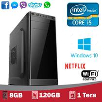 CPU 5Tech Intel Core I5 3.2ghz, 8Gb, SSD 120gb, HD 1 Tera, Hdmi Fullhd, Windows 10 Profissional - 5Techpc
