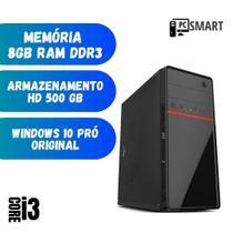 Cpu Desktop Computador PC Montado Star Intel i3 8gb Hd 500 Windows 10 - Nova c/ Gravador de DVD -
