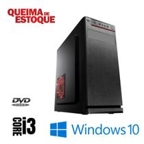Cpu Desktop Core i3 4gb Ram Hd 500gb Windows 10 Pró Dvd - Star