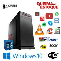 Cpu Desktop Core i3 8gb Hd 1tb - SSd 120gb Win10 Pró DVD-Rw! - Star