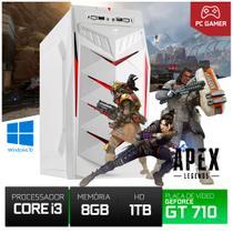 Cpu Gamer Para Cs Go Top I3 Hd 1000gb 8gb Ram GT710 + Jogo Apex Instalado - Yesstech