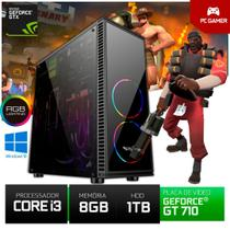 Cpu Gamer Pyx One Core I3 1tb 8gb Ram Gt710 2gb + Jogos -