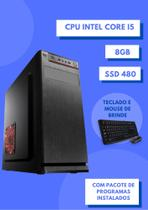 Cpu intel core i5 8gb ssd 480 win 10 + pacote de programas - Star