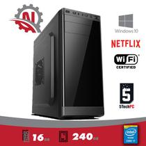 CPU Intel Core I7, 16Gb de memória, SSD 240gb, Gravador DVD, Windows 10 Pro + WIFI - 5Techpc