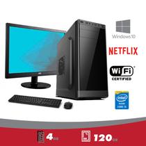 CPU + Monitor 15,6 + Mouse e Teclado 5Tech Intel Core I5 3.10ghz /4gb /HDSSD 120gb/ HDMI FullHD/Windows 10 PRORO