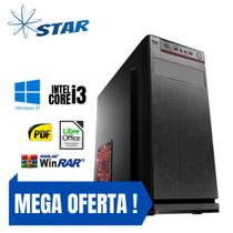 Cpu Montada Core i3 8gb Hd 1tb Win10 Pró - Gravador de Dvd - Star