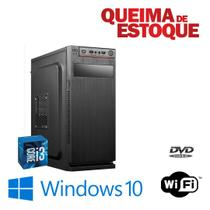 Cpu Torre Core i3 8gb SSd 480gb Win10 Pró OEM - DVD - RW !! - Star
