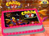 Crash Bandicoot II Papel de Arroz Comestível P/ Bolo A4 20x30cm MOD.02 - Catia'S Cakes Papel De Arroz