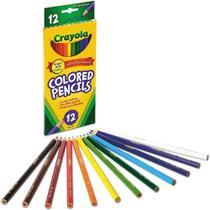 Crayola - lapis de cor - 12 cores - macio e não tóxico -