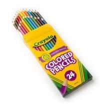 Crayola - lapis de cor - 24 cores - macio e não tóxico -
