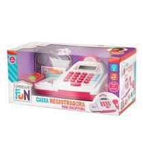 Creative fun caixa registradora mini shopping rosa - Multilaser