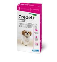 Credeli Antipulgas e Carrapatos para cães de 2,5 a 5,5 Kg 3 comprimidos - Elanco