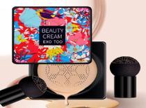 Creme base corretiva hidratante maquiagem para pele com esponja macia forma cogumelo - Universal