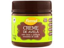Creme de Avelã com Cacau e Pedação Crocantes - de Avelã Flormel Zero Açúcar 150g