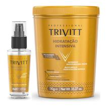 Creme de Hidratação Profissional Trivitt Com Reparador de pontas -