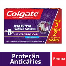 Creme Dental Colgate Neutraçúcar 70g Leve 3 Pague 2
