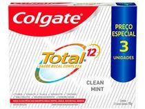 Creme Dental Colgate Total 12 Clean Mint 90g  - 3 Unidades
