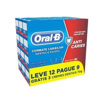 Creme Dental Oral-B 123 70g Leve 12 Pague 9 - Oral B
