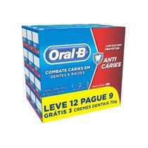 Creme Dental Oral-B 123 70g Leve 12 Pague 9 - Oral B