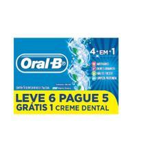 Creme Dental Oral-B 4 em 1 Leve 6 Pague 5 70g - Oral B