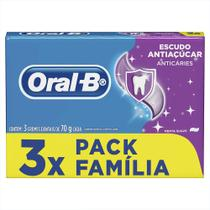 Creme Dental Oral-B Escudo Anti Açúcar Tradicional Leve 3 Pague 2 70g - Oral B