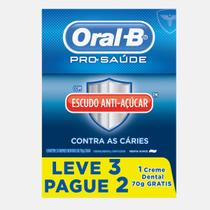 Creme Dental Oral-B Pró Saúde Anti Açúcar 70g 3 Unidades -
