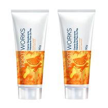 Creme Desodorante Hidratante Para os Pés Laranja e Canela Foot Works Avon 90g 2 Unid -