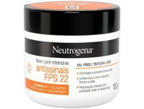 Creme Hidratante Facial Neutrogena - Face Care Intensive 22 FPS 100g -