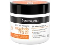 Creme Hidratante Facial Neutrogena - Face Care Intensive 22 FPS 100g