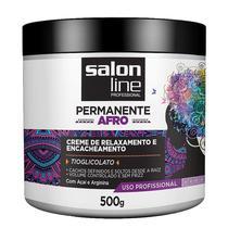 Creme Relaxamento Permanente Afro Salon Line Encacheamento 500g -