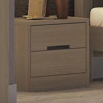 Criado Mudo 2 Gavetas Dormitório Gold S822 Nature Fosco - Móveis kappesberg
