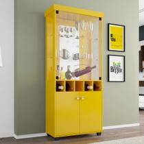 Cristaleira Monza Móveis Bechara Amarelo -
