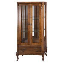 Cristaleira Vitrine Espelhada Antique Média com 2 portas, 2 prateleiras de vidro e 1 gaveta - 1080E - Meyer