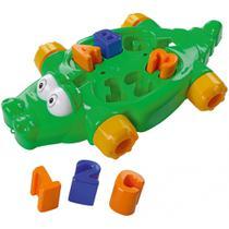 Crocodilo Educativo Bobbydilo Brinquedo Para Bebês Encaixe - Dismat