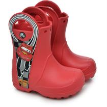 Crocs handle it macqueen rain boot - red - tamanho 24 -