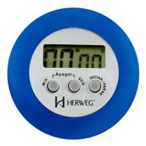 Cronômetro Digital Progressivo Regressivo Azul Timer Herweg -