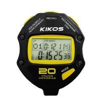 Cronômetro Kikos 20 Voltas CR20 Preto e Amarelo com Temporizador de Contagem Duplo -