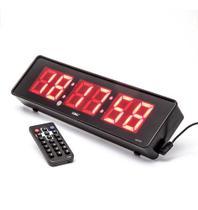 Cronômetro Relógio de Parede Digital Led Controle Remoto 32cm le2113 - Br